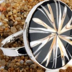 Spider-Muschel Ring mit Silber BIG 3