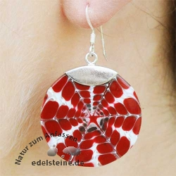 Spider-Shell Ear-Pendant with Silver 2