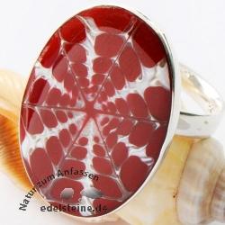 Spider-Muschel Ring oval mit Silber 10