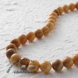 Edelstein-Perlen, Ivory-Jade, 10 mm