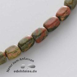 Edelstein-Perlen, Unakit/Epidot, Quader 8x13 mm