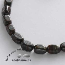 Edelstein-Perlen, Tigereisen, Quader 8x13 mm