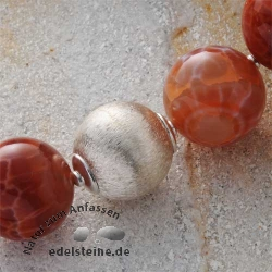 Silberperle, 925er Silber, Kugel 15 mm