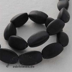 Edelstein-Perlen Obsidian Navette 12x21 mm