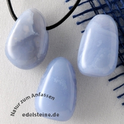 Chalcedon Blue Pendant 3 pieces