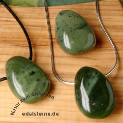 Nephrite Jade Pendant BIG 3 Pieces