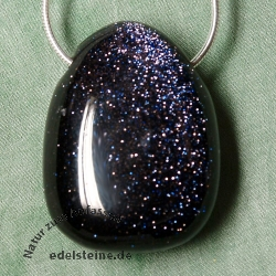 Blue Sand Stone Pendant 25/30mm