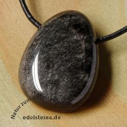 Silber Obsidian-Anhänger