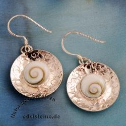 Shiva Muschel Ohrringe Silber 925 Shivaauge Ohrringe SHCOR02