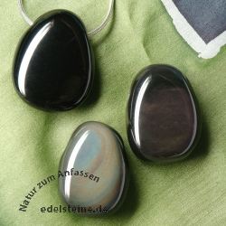 Rainbow Obsidian Pendant 3 pieces