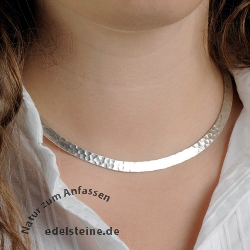 Silver Choker hammered 5,5 mm