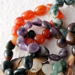 Bracelet-Set Tumbled Stones 10 pieces
