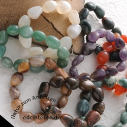 Bracelet-Set Tumbled Stones 25 pieces