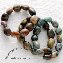 Ozean-Jaspis Trommelstein - Armband 3 Stück