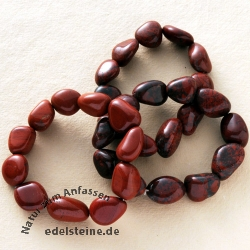 Jasper red bracelet 3 pieces