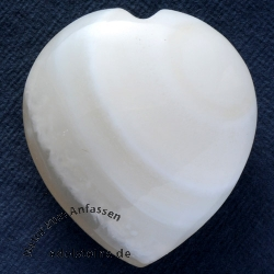 Agate white heart