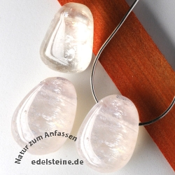 White Calcite Pendant 3 Pieces