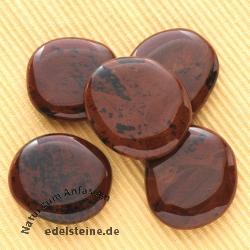 Mahagony Obsidian soapstone flat stone 5 Pieces