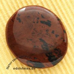 Mahagony Obsidian flat semi-precious stone