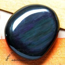 Rainbow Obsidian flat semi-precious stone