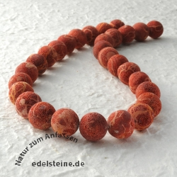 Gemstone-Beads, Coral, bead raw 18 mm