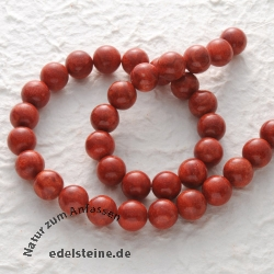 Gemstone-Beads, Coral, bead 10 mm