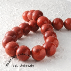 Gemstone-Beads, Coral, bead 20 mm 40cm strand