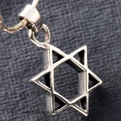Silber Davidstern Anhänger 925 DA4