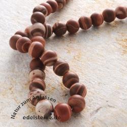 Edelstein-Perlen, Streifenjaspis, Kugel 12 mm