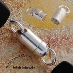 Magnetverschluss 5,5 x 14 mm lang Bullet Silber925