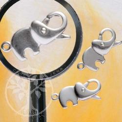 Verschluß Elefant, Karabiner 20 mm, 925er Silber