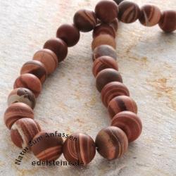Gemstone-Beads, Auski Picture Jasper, round 15 mm