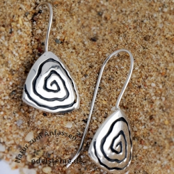 Silver Earring Whirli 1
