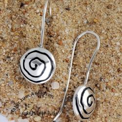 Silver Earring Whirli 2