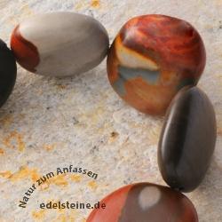 Gemstone-Beads, Polychronic Jasper, round 12 mm