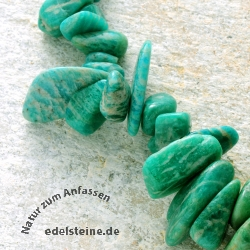 Gemstone-Beads, Amazonite, tumbled Chips Big