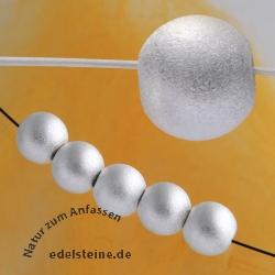 Silberperle, Kaschierperle, 8 mm, satiniert 925er