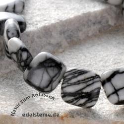 Picasso Jaspis Perlen Kissen 10x4,5mm