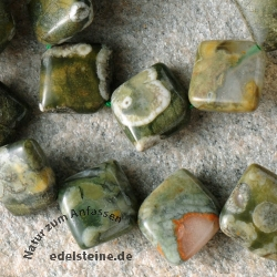 Rhyolite Gemstone-Beads Pillow 10mm