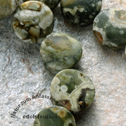 Rhyolite Gemstone-Beads Disc Blended