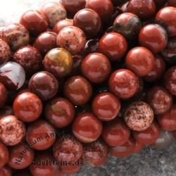 Roter Jaspis Miniperlen Kugel 3mm