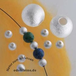 Satinierte Silberperle matt Großlochperle 6.0*2.0mm Silber 925