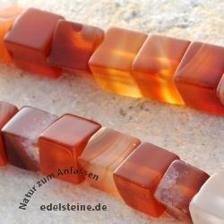 Rote Achat Würfel Perlen 6mm