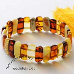 Amber bracelet coloured oval