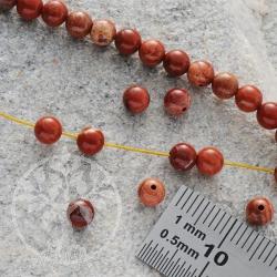 Rote Jaspis Mini Perlen Kugel 4mm
