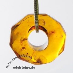 Amber Pendant Donut SMALL