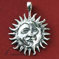 Silber-Anhänger Sonne und Mond