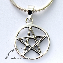 Silber-Anhänger Pentagramm PE38