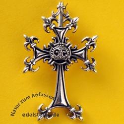 Silver Cross Pendant Twirl