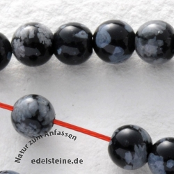 Snowflake Obsidian Gemstone-Beads Round 4mm